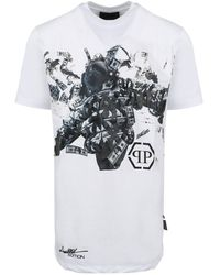 Philipp Plein Dollar T-shirt - Wit