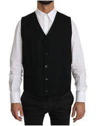 Dolce & Gabbana - Waistcoat Formal Gilet Wool Vest - Lyst