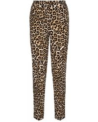&Co Woman Stockholm Pants Printed - Bruin