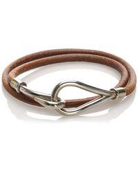 Hermès Jumbo Hook Leather Bracelet - Marrone