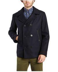 Armor Lux Wool Pea Coat - Blau