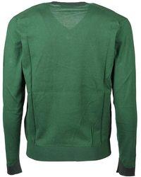 Etro - Multiyarn Sweater Verde - Lyst