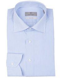 Canali Cotton striped shirt - Blu