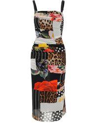 Dolce & Gabbana Draped Dress - Zwart
