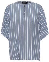 Soaked In Luxury Kallithea Saphira Top Shirt - Blauw
