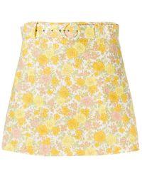 Faithfull The Brand Celia Short skirt - Giallo