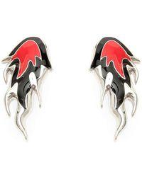 Ambush Flame Earrings - Rood