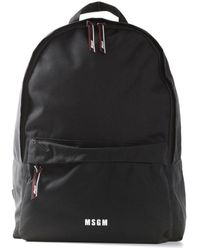 MSGM Backpack IN With Print - Noir