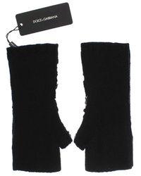 Dolce & Gabbana Guantes de punto de cachemira con lentejuelas Negro