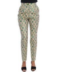 Dolce & Gabbana - Floral Brocade Pants - Lyst