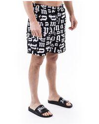 Palm Angels Shorts de baño Negro