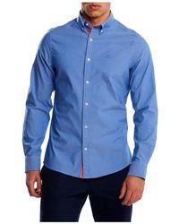 GANT D1.tp Slim Stretch Oxford Overhemd - Blauw