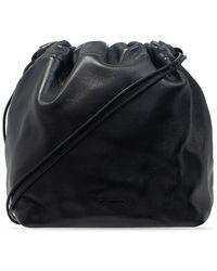 Jil Sander Drawstring Shoulder Bag - Zwart