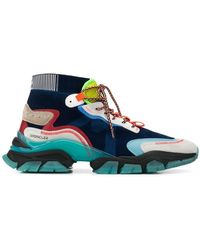 Moncler High Leave No Trace Sneakers - Blauw