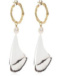 Forte Forte Brass Earrings - Geel