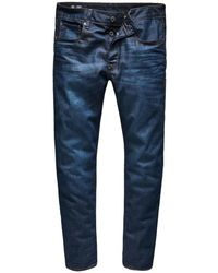 G-Star RAW Jeans 3301 Straight Fit Dark Aged (51002-4639-89n) - Blauw