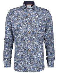 A fish named fred Shirt 22.02.039 - Blauw