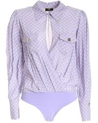 Elisabetta Franchi Body Shirt - Mehrfarbig