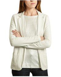 Majestic Filatures Buttonless suit jacket metallic - Blanc