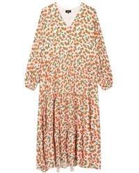 Alix The Label Fresh Flower Maxi Dress - Oranje