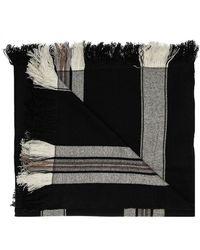 Isabel Marant Striped Scarf - Zwart