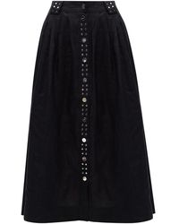 Ganni Linen Skirt - Blauw