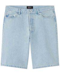 A.P.C. Shorts Teddy Chiaro - Blauw