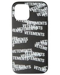 Vetements Logo i phone 12 pro max case - Negro
