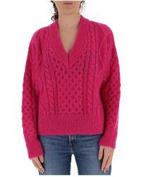 Laneus Cable-knit jumper - Rose