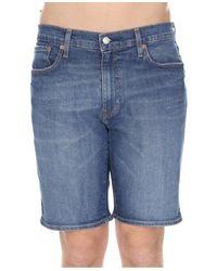Levi's Bermuda 502 Taper Shorts - Blauw