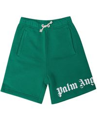 Palm Angels Sweat Shorts With Logo - Groen