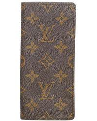 Louis Vuitton Tweedehands Monogram Etui A Lunettes Simple Brillenkoker - Bruin