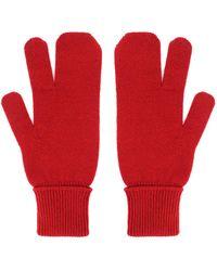 Maison Margiela Gloves Rojo