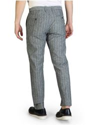 Yes-Zee P682_Un00 trousers Gris