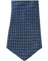 Dolce & Gabbana Patterned Classic Slim Necktie Tie - Blauw