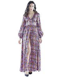 Silvian Heach Nyarna Long Dress Cvp20111ve - Paars