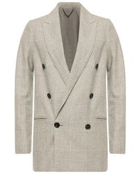 AllSaints Astrid double-breasted blazer - Gris