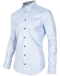Cavallaro Overhemd Shirt Spinazo - Blauw