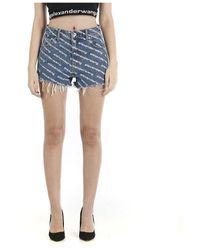 T By Alexander Wang Mini Shorts - Blauw