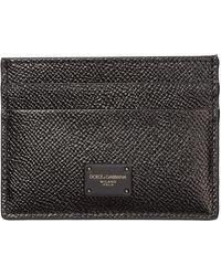 Dolce & Gabbana - Men's Genuine Leather Credit Card Case Holder Portemonnee - Lyst