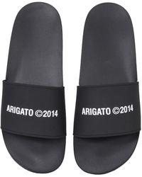 Axel Arigato Rubber Slide Sandals - Noir