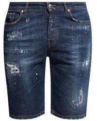 John Richmond Denim shorts - Blu