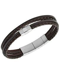Fossil Jf02934040 Bracelet - Marrone