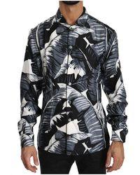 Dolce & Gabbana 100% Zijde Shirt - Zwart