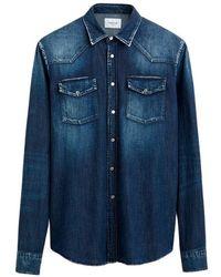 Dondup Western Denim Shirt - Blauw