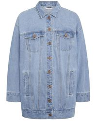 Noisy May Nmfiona L/s Denim Jacket Jt152lb - Blauw