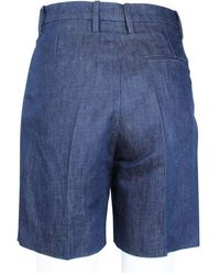 Hermès Denim Bermuda Shorts Azul