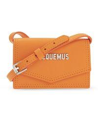Jacquemus 'le Porte Azur' Strapped Card Case - Oranje
