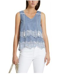 Marc Cain Top with stitching Azul