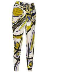 Emilio Pucci Printed Tapered Pants - Vert